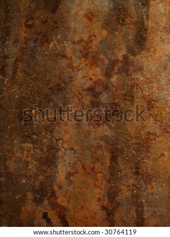 Old rusty sheet of metal