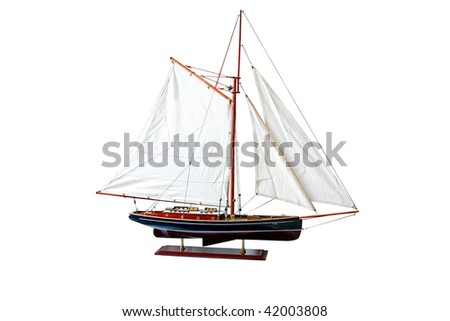 Old sail ship isolated included clipping path