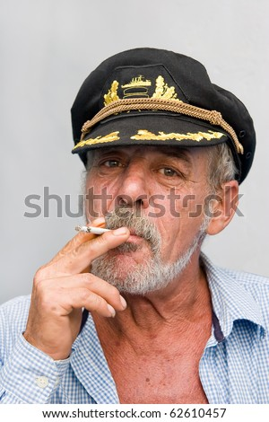 Old sailor - stock photo