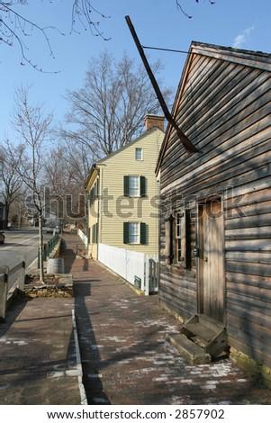 Old Salem Street - stock photo