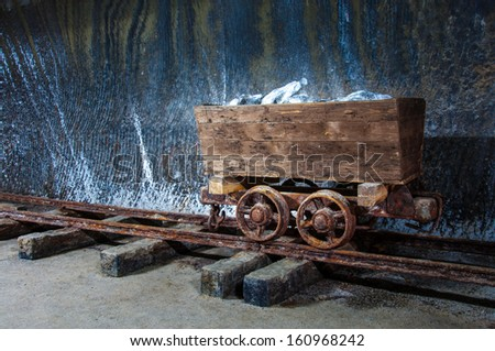 Old salt mine wagon, Turda, Romania.