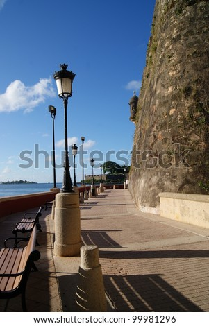 Old San Juan Walkway - stock photo