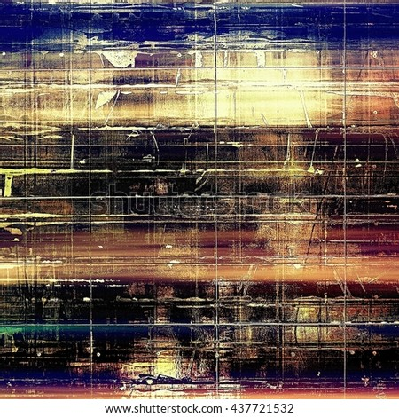 Old school aged texture or background for retro grunge design. With different color patterns: yellow (beige); brown; blue; red (orange); purple (violet); black - stock photo