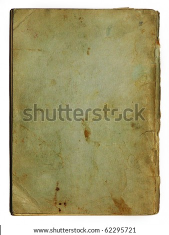 old school exercise book's back - stock photo