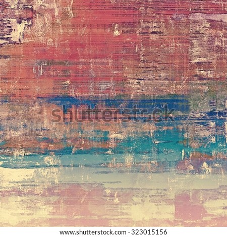 Old school textured background. With different color patterns: brown; purple (violet); pink; blue - stock photo