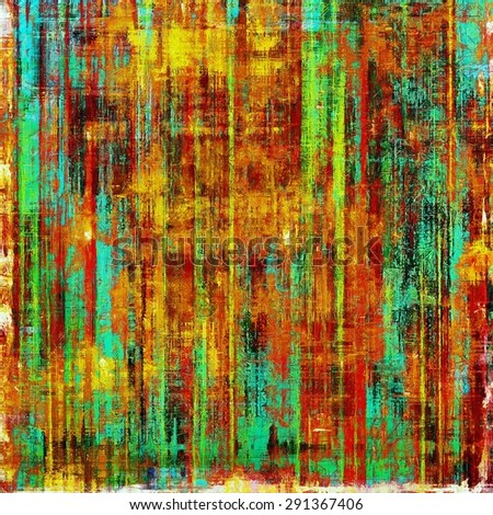 Old school textured background. With different color patterns: yellow (beige); blue; green; red (orange) - stock photo