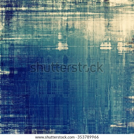Old scratched retro-style background. With different color patterns: blue; cyan; white; gray - stock photo