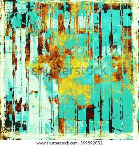 Old scratched retro-style background. With different color patterns: yellow (beige); brown; blue; white; cyan - stock photo