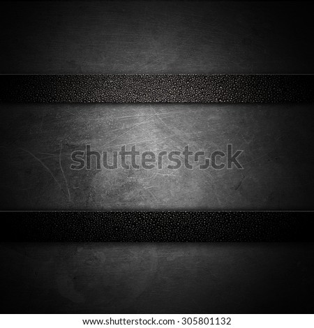 Old Scratched round metal plate texture  - stock photo