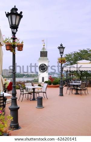 old Serbia town Petrovaradin - stock photo