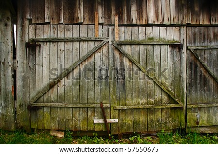 old shed, the door - stock photo