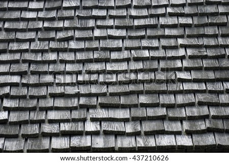 Old shingle roof background