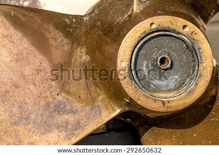 Old ship screw - stock photo