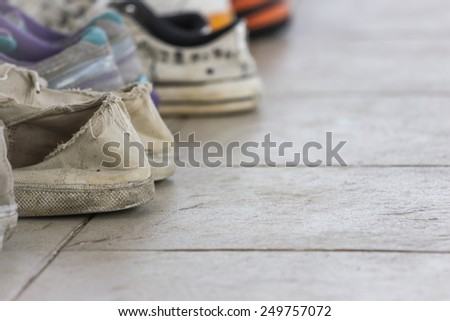 old shoes. - stock photo