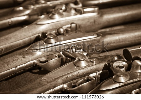 Old shotguns - stock photo