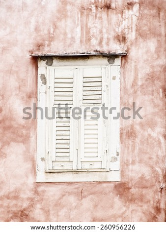 old shutters closed  - stock photo