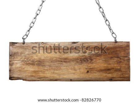 old signboard isolated on a white background - stock photo
