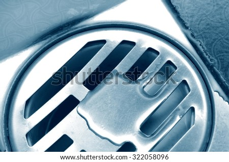 old sink hole with the water - stock photo
