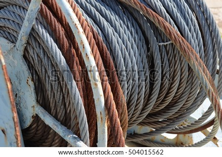 OLD SLING ROPE STEEL