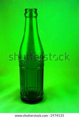Old soda bottle, digital enhanced.