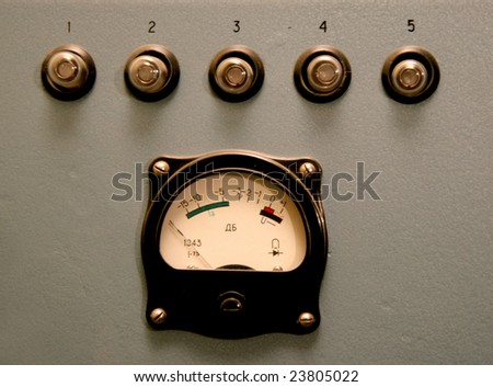 old sound control monitor - stock photo