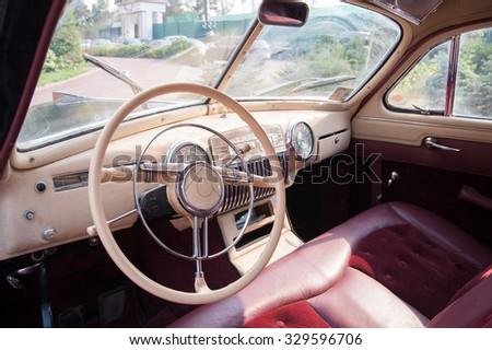 old soviet car - stock photo