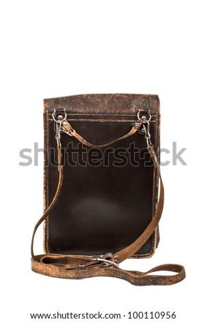 Old Soviet military bag - stock photo