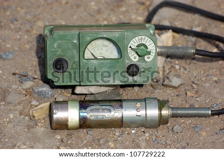 Old Soviet military radiometer.Relic of Cold War - stock photo