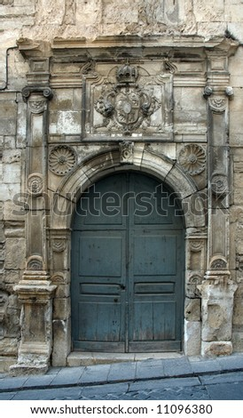 Old Spanish church's door