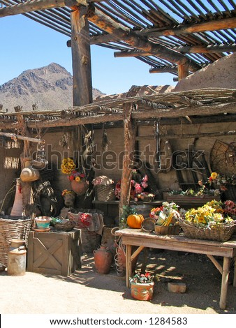 Old Spanish Market - stock photo