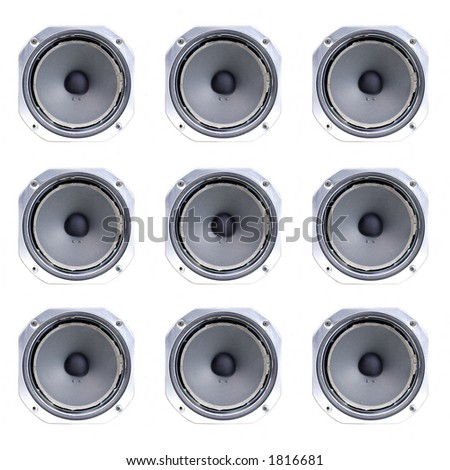 old speaker cone, isolated on white