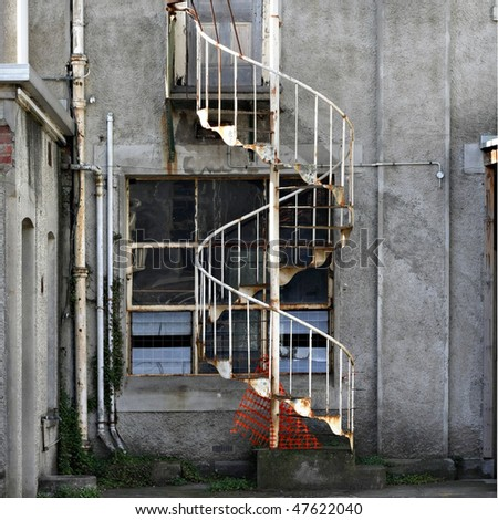 Old Spiral Staircase Abbotsford Convent Stock Photo 47622040 .