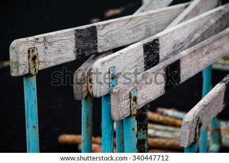 old sport equipment - stock photo