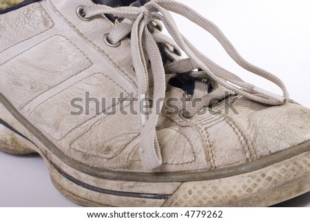 old sport shoes - stock photo