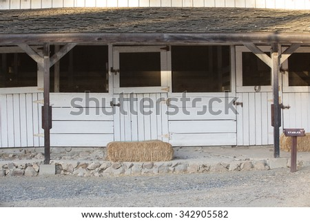 Old stables built at the Leo Carrillo Park in Carlsbad, California