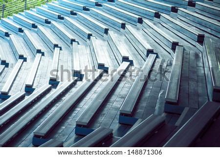 Old Stadium seats - stock photo