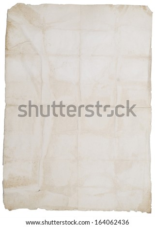 old stained blank - stock photo