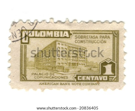 Old stamp from Colombia