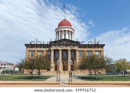 Old State Capitol of Illinois in Springfield - stock photo