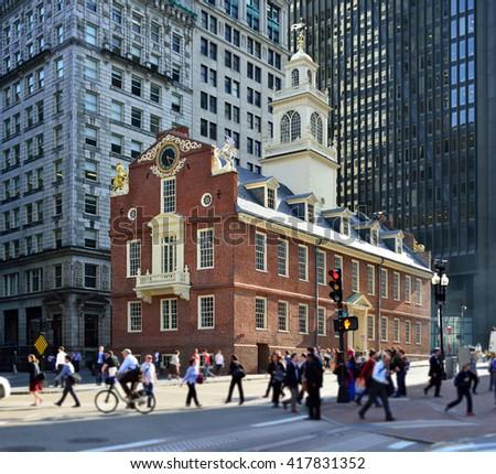 Old State House, Boston - stock photo