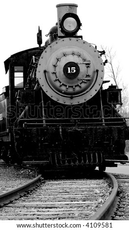 Old Steam Engine Approaching - stock photo