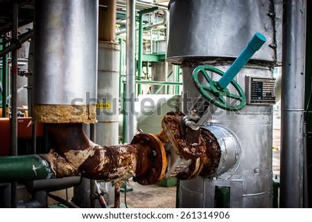 Old steam valve repair - stock photo