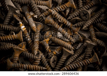 Old steel bolts - stock photo