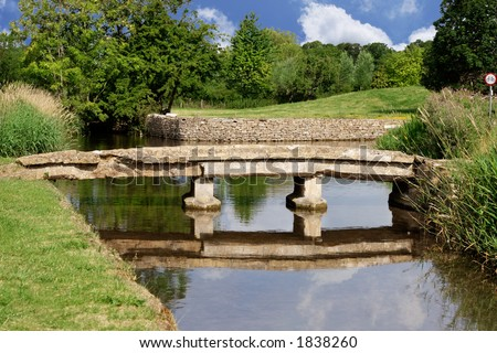 Old stone bridge, Lower Slaughter, England