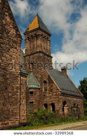 Old Stone Church-Buffalo,New York - stock photo