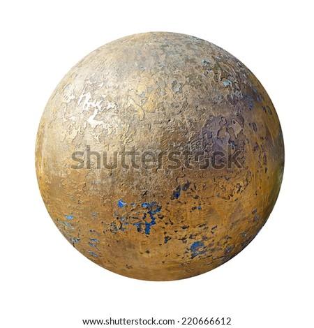 old stone golden ball - stock photo