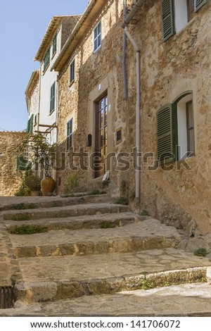 Old stone houses - stock photo