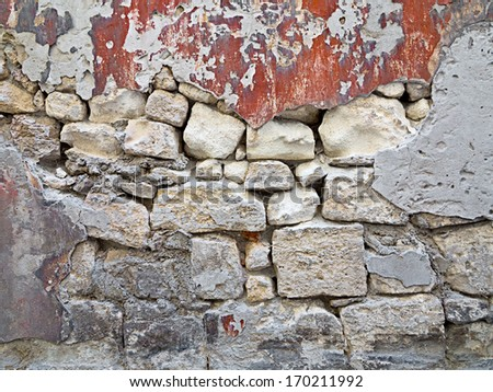 Old stone wall. Abstract background.  - stock photo
