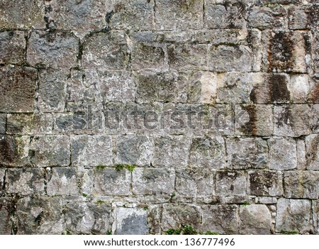 Old stone wall. background - stock photo