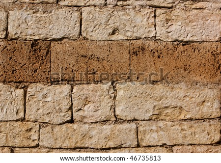 old stone wall in Muted Shades of Terracotta